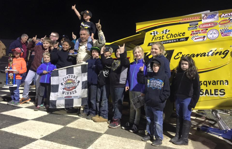 Billy Pauch Sr. Celebrates Victory at 358 Modified Feature