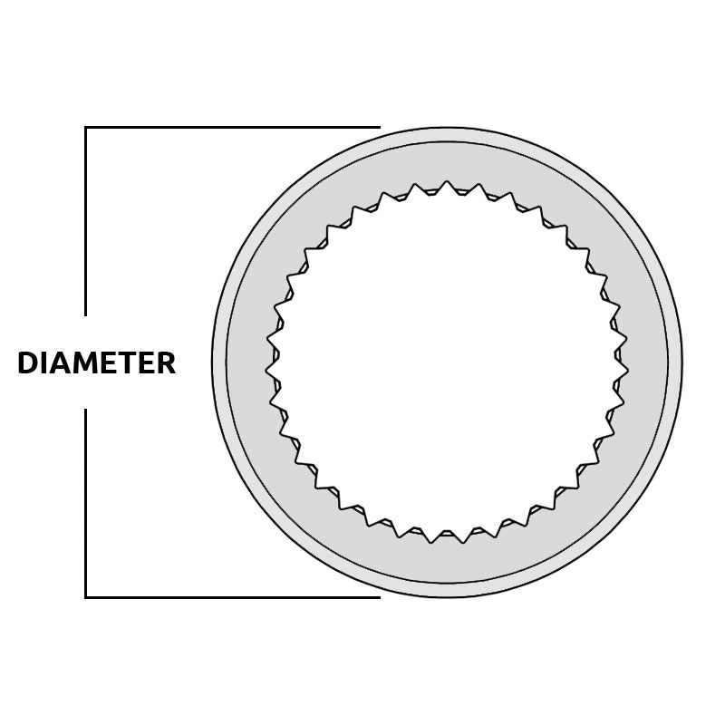 Splined Collar Diameter